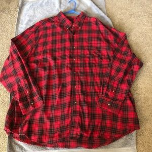 Chaps Ralph Lauren Flannel Shirt Button Down 4xb